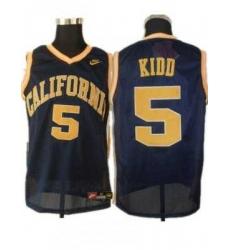 Golden Bears #5 Jason Kidd Blue Basketball Embroidered NCAA Jersey