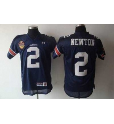 Tigers #2 Newton Blue Embroidered NCAA Jersey