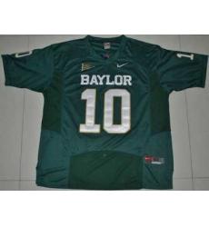 Bears #10 Robert Griffin III Green Embroidered NCAA Jersey