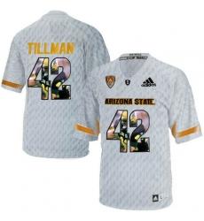 Arizona State Sun Devils #42 Pat Tillman Ice Team Logo Print College Football Jersey2