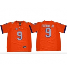 Tigers #9 Travis Etienne Jr. Orange Limited Stitched NCAA Jersey