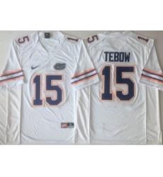 Florida Gators 15 Tim Tebow White College Football Jersey