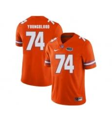 Florida Gators 74 Jack Youngblood Orange College Football Jersey