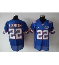Gators #22 E.Smith Blue Embroidered NCAA Jersey