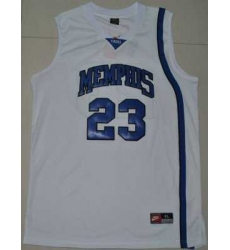 Tigers #23 Derrick Rose White Basketball Embroidered NCAA Jersey
