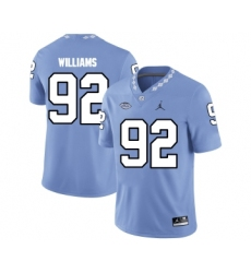 North Carolina Tar Heels 92 Sylvester Williams Blue College Football Jersey