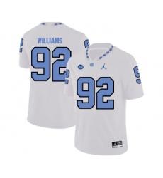 North Carolina Tar Heels 92 Sylvester Williams White College Football Jersey