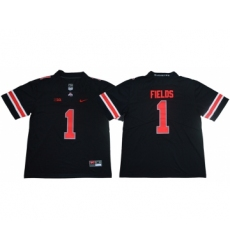 Ohio State Buckeyes 1 Justin Fields Limited College Football Black Jersey