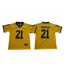 Michigan Wolverines 21 Desmond Howard Gold College Football Jersey