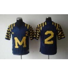 NCAA Michigan Wolverines 2# WOODSON Under The Lights Blue Adidas Jersey
