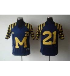 NCAA Michigan Wolverines 21# HOWARD Under The Lights Blue Adidas Jersey