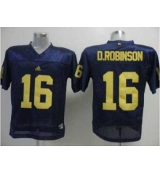 Wolverines #16 D.Robinson Blue Embroidered NCAA Jerseys