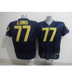 Wolverines #77 Jacke Long Blue Embroidered NCAA Jerseys