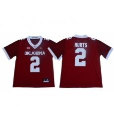 Oklahoma Sooners 2 Jalen Hurts Red 47 Game Winning Streak College Football Jersey