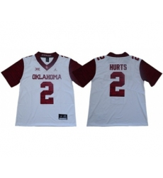 Sooners #2 Jalen Hurts White Jordan Brand Limited New XII Stitched College Jersey