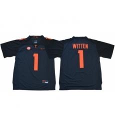 Vols #1 Jason Witten Grey Limited Stitched NCAA Jersey