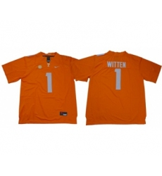 Vols #1 Jason Witten Orange Limited Stitched NCAA Jersey