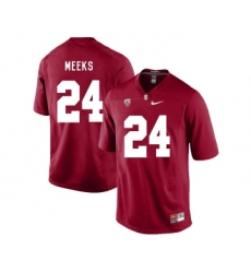 Stanford Cardinal 24 Quenton Meeks Cardinal College Football Jersey