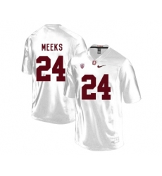 Stanford Cardinal 24 Quenton Meeks White College Football Jersey