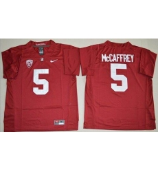 Stanford Cardinal #5 Christian McCaffrey Red Stitched NCAA Jersey