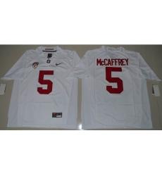 Stanford Cardinal #5 Christian McCaffrey White Stitched NCAA Jersey