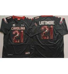 South Carolina Fighting Gamecocks #21 Marcus Lattimore Black Player Fashion Stitched NCAA Jersey