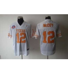 NCAA Texas Longhorns #12 Colt McCoy WHITE Jersey
