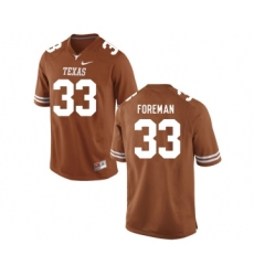 Texas Longhorns 33 D'Onta Foreman Brunt Orange College Football Jersey