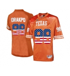 Texas Longhorns 98 Brian Orakpo Orange College Football Throwback Jersey