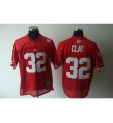 Badgers #32 Red Embroidered NCAA Jersey