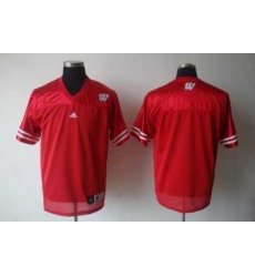 NCAA Wisconsin Badgers Blank Red Jersey