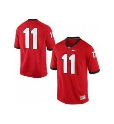 Georgia Bulldogs 11 Aaron Murray Red College Football Limited NCAA Jerseys