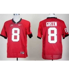 Georgia Bulldogs 8 AJ Green Red College Football NCAA Jerseys