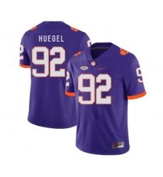 Clemson Tigers 92 Greg Huegel Purple Nike College Football Jersey