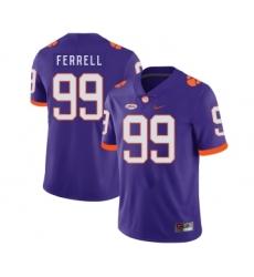 Clemson Tigers 99 Clelin Ferrell Purple Nike College Football Jersey