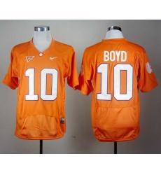 Clemson Tigers Tajh Boyd 10 Orange Pro Combat College Football Jersey