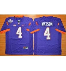 Youth Clemson Tigers #4 Deshaun Watson Purple 1975-1978 Fuller Stitched NCAA Jersey