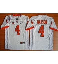 Youth Clemson Tigers #4 Deshaun Watson White 1975-1978 Fuller Stitched NCAA Jersey