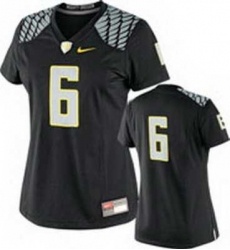 NEW Women Oregon Ducks Black #6 NCAA Jerseys
