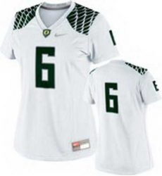 NEW Women Oregon Ducks white #6 NCAA Jerseys