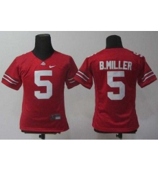Women NEW Ohio State Buckeyes Braxton Miller 5 Red College Football Jerseys