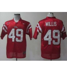 Ole Miss Rebels 49 Patrick Willis Red College Football NCAA Jerseys