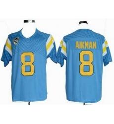 Ncaa UCLA Bruins 8# Troy Aikman blue jerseys