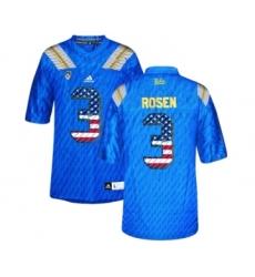 UCLA Bruins 3 Josh Rosen Blue College Football Authentic Jersey Blue