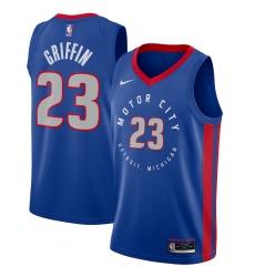 Men's Detroit Pistons #23 Blake Griffin Nike Blue 2020-21 Swingman Player Jersey