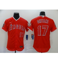 Men's Nike Los Angeles Angels #17 Shohei Ohtani Red Elite Home Stitched Baseball Jersey