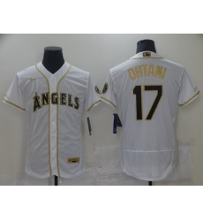 Men's Nike Los Angeles Angels #17 Shohei Ohtani White Elite Throwback Baseball Jersey