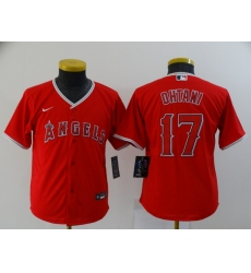 Youth Nike Los Angeles Angels #17 Shohei Ohtani Red Home Stitched Baseball Jersey