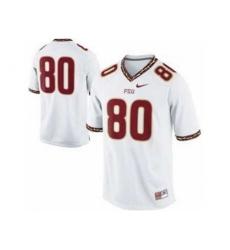 Florida State Seminoles FSU 80# Rashad Greene White College Football Nike NCAA Jerseys