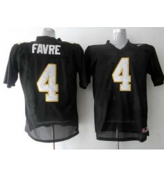 Golden Eagles #4 Brett Favre Black Embroidered NCAA Jersey